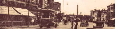Loampit Vale from Lewisham High Street, showing the Gaumont Cinema, 1938