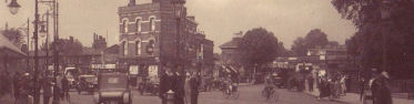 Lewisham High Street, with Loampit Vale on the left, c. 1925